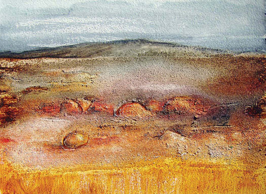 Textured Acrylic Landscape Painting