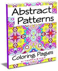 Abstract Patterns Coloring Pages by Thaneeya