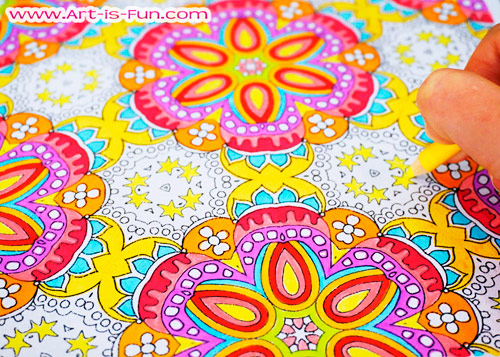 Groovy Abstract Coloring Page to Print