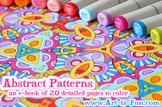 Abstract Pattern Coloring Page to Print by Thaneeya