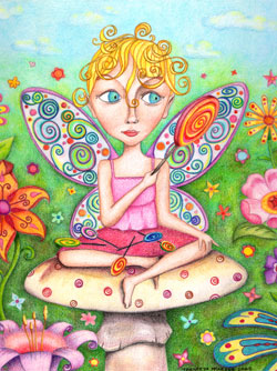 Fairy Colored Pencil Art by Thaneeya