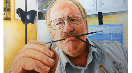 Self Portrait Oil Painting by Mike Ivey