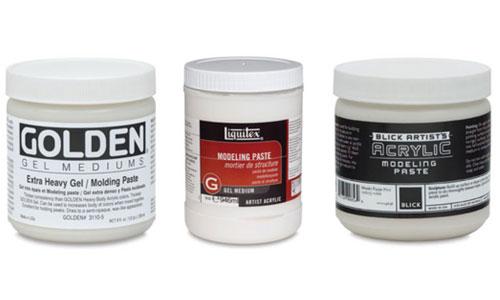 Acrylic Mediums, Modeling Paste