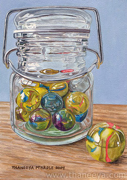 "My ""Jar of Marbles"" watercolor painting."