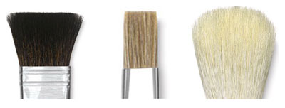 Squirrel, Ox, and Goat Brush Hairs