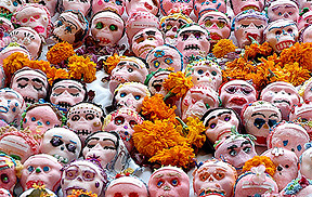 Sugar skulls and marigolds Photo Credit: Glen van Etten