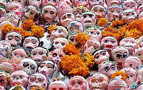 Sugar skulls and marigolds Photo Credit: Glen van Etten