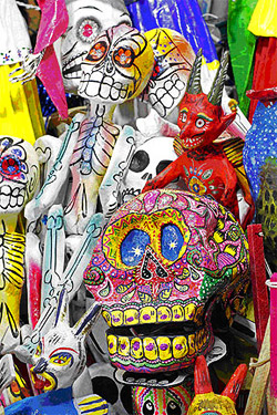 Paper Mache skeletons Guanajuato Market, Mexico Photo credit: Tomas Castelazo
