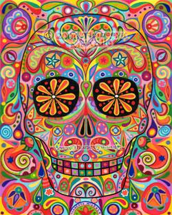 Sugar Skull Art by Thaneeya