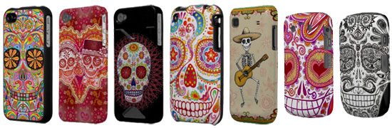 Sugar skull smartphone cases featuring the art of Thaneeya McArdle See more Day of the Dead smartphone cases here.