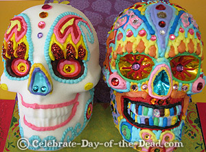 How to make medium to large sugar skulls like the ones you see above