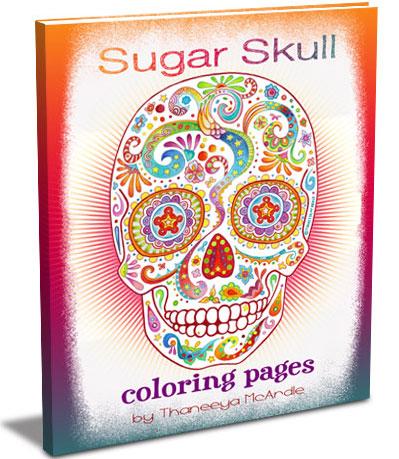 Sugar Skulls Coloring Pages by Thaneeya