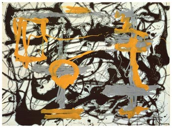Yellow, Grey, Black   Jackson Pollock