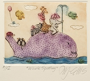 Whale and Animals Print