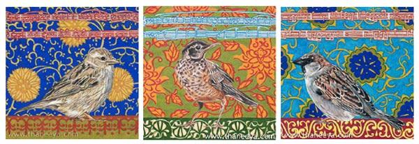 Bird Drawings by Thaneeya