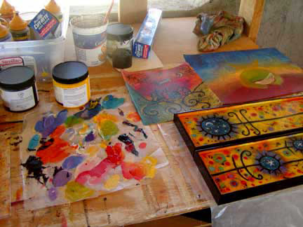 A peek at Lindy Gaskill's workspace