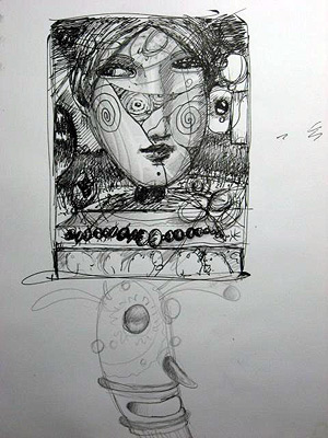 Artist Drawing Process of John Kurtz