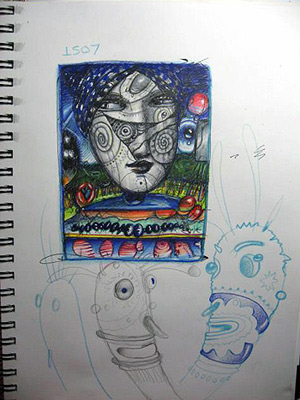 John Kurtz Drawing Process