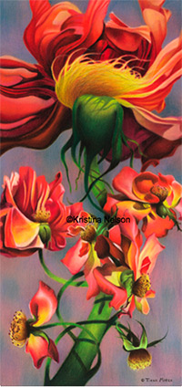 Crayon Fine Art by Kristina Nelson