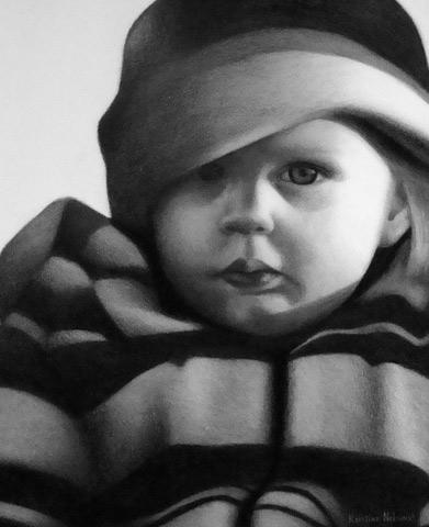 Crayon Portrait by Kristina Nelson
