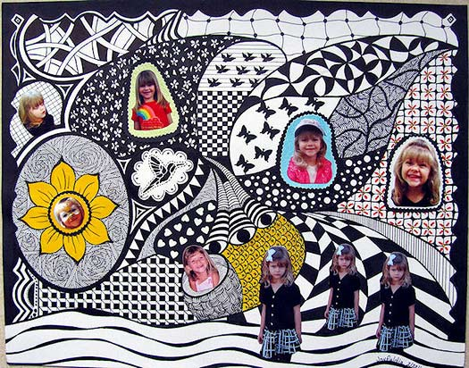 Doodle Art Photo Collage by Dia Stafford