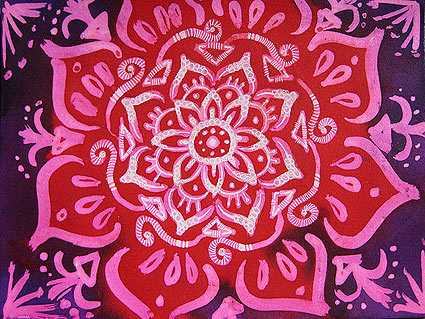 Multi-layered batik mandala by Stephanie Smith