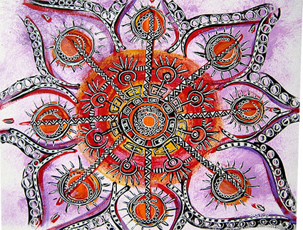 Mandala Painting by Stephanie Smith