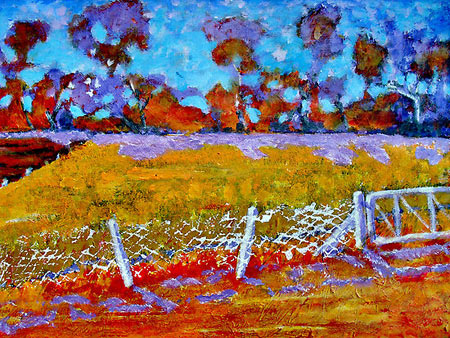 Post Impressionist Acrylic Landscape Painting by Richard Tuvey
