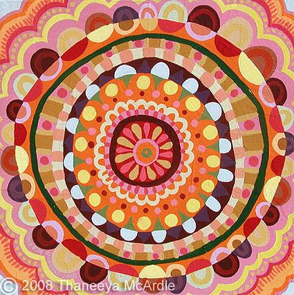 Mandala Painting by Thaneeya McArdle