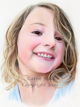 Realistic Colored Pencil Portrait Art