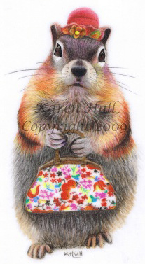 Whimsical Squirrel Drawing