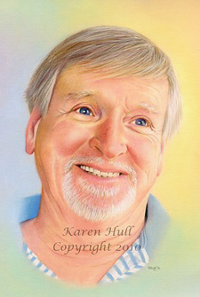 Colored Pencil Portrait Art by Karen Hull
