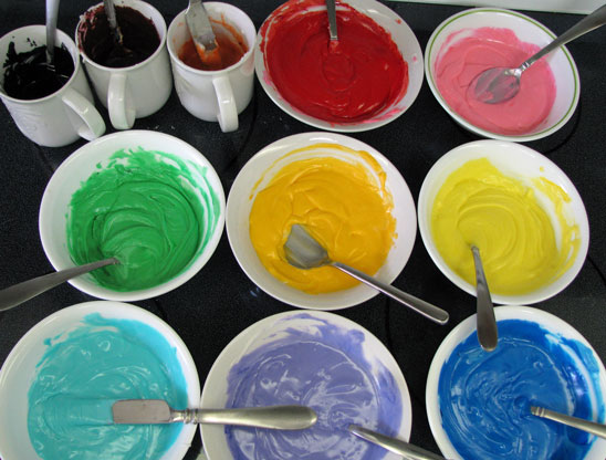 Colored Icing For Sugar Skulls