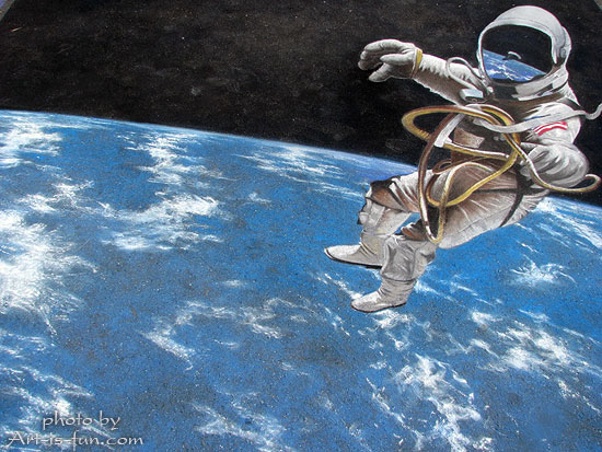 Chalk drawing by Michael Las Casas