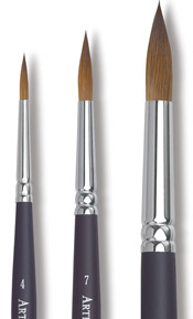 Round Kolinsky Sable Brushes