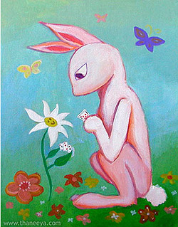 Whimsical Bunny Art