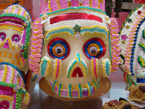 Colorful sugar skull at Feria de Alfeñique in Toluca, Mexico Photo credit: Jorge Nava