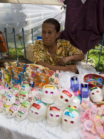 Day of the Dead Sweets in the Market, Zaachila, Oaxaca, Mexico