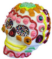 Sugar Skull Decorated with Royal Icing
