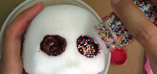 Sprinkles in Sugar Skull Eyes