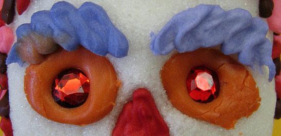 Sugar Skull Eyebrows made from Icing