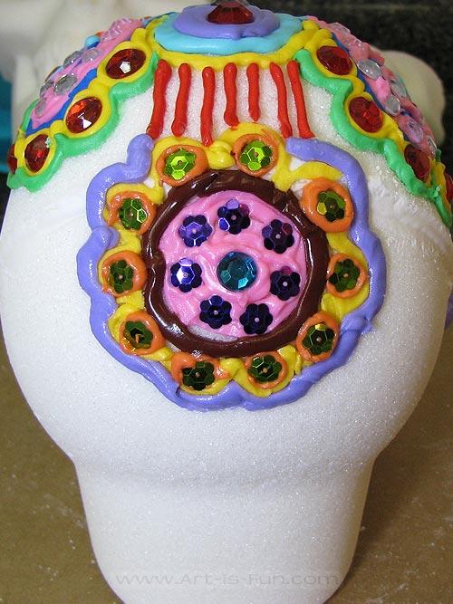 Sugar Skull Mandala Decorations