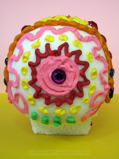 Sugar Skull Mandala Head