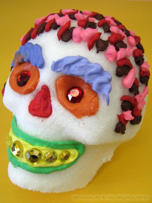 Funky Sugar Skull by Thaneeya