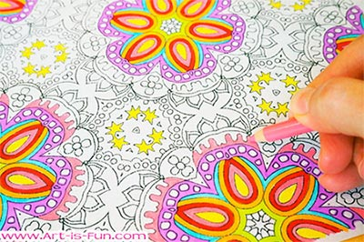 Free Abstract Patterns Coloring Page by Thaneeya