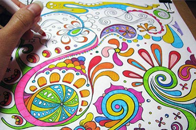 free abstract coloring page