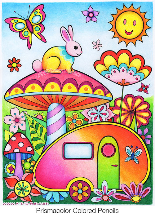 Trailer Coloring Page From The Happy Campers Book By Thaneeya McArdle