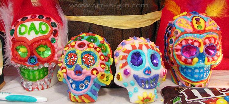 Day of the Dead Altar Sugar Skulls
