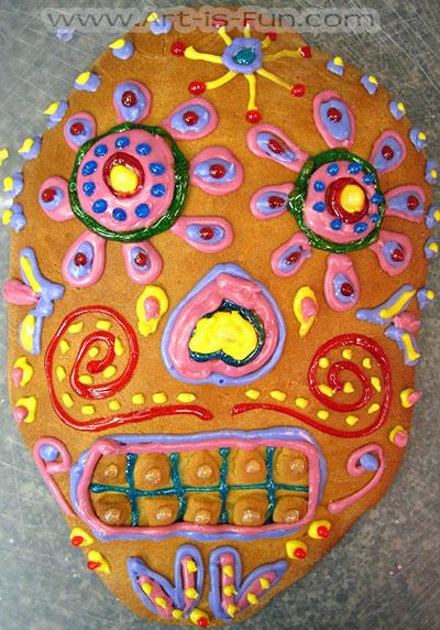 Pan de Muerto Skull Example