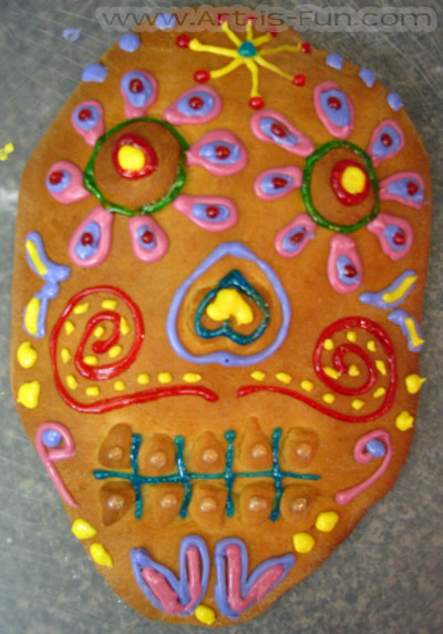 Day of the Dead Bread Skull in Progress